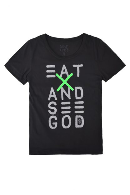 NT010M-EAT(black) Tshirt sérigraphié de Créateurs. Made in France. Tee Shirt Rock - Tee Shirt Punk. Nineteesparis.fr