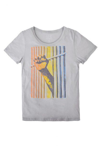 NT010M-FREE(grey) Tshirt sérigraphié de Créateurs. Made in France. Tee Shirt Rock - Tee Shirt Punk. Nineteesparis.fr