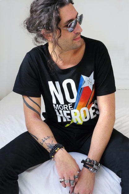 NT010M-Ninetees Tshirt sérigraphié - MORE(black)