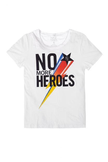 NT010M-Ninetees Tshirt sérigraphié - MORE(white)-1 Tshirt sérigraphié de Créateurs. Made in France. Tee Shirt Rock - Tee Shirt Punk. Nineteesparis.fr